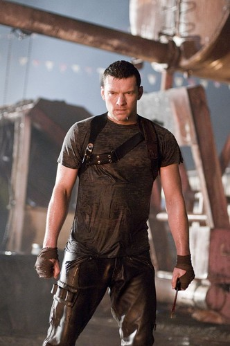 Sam Worthington wallpaper possibly with a hip boot and a lumbermill entitled Terminator Salvation Promotional Stills