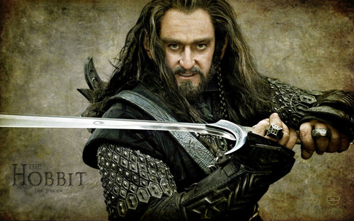 The Hobbit پیپر وال possibly containing a falchion, a sign, and a machete entitled The Hobbit: An Unexpected Journey