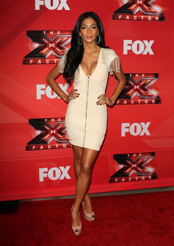 Nicole Scherzinger wallpaper possibly with bare legs, a swimsuit, and a leotard entitled The X-Factor Press Conference 19 12 2011