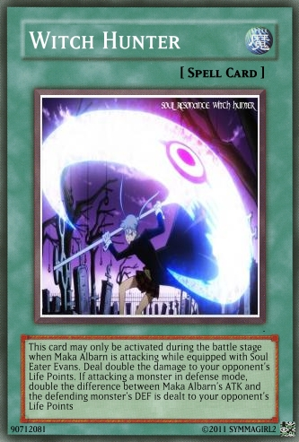 Witch Hunter YuGiOh! card