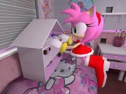 amy rose likes  hello kitty - hello-kitty Photo