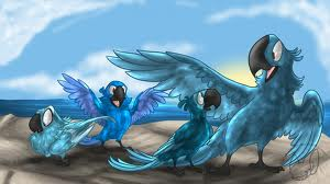 blu and he's chicks