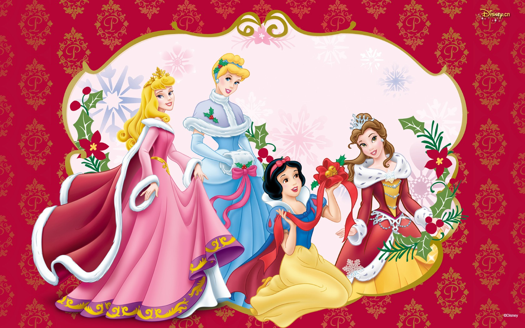 Disney Christmas Images Princesses At HD Wallpaper And Background Photos