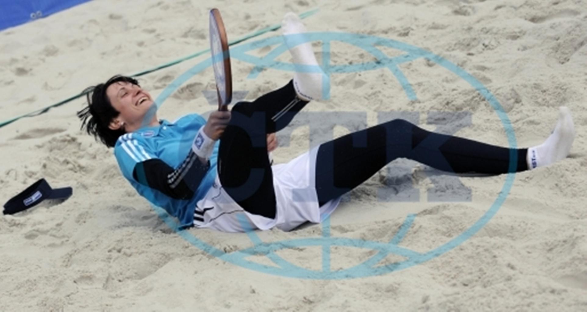 funny Sablikova in pantai