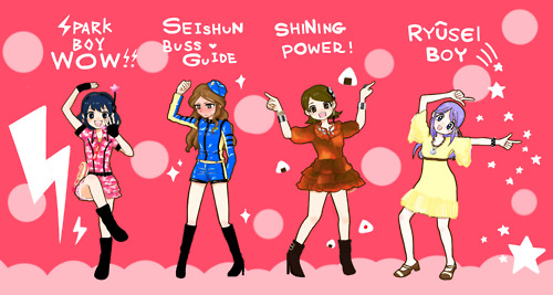 funny poses inazuma girls