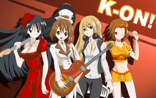 K-ON! 壁纸 with 日本动漫 entitled grown up after school 茶 time xD