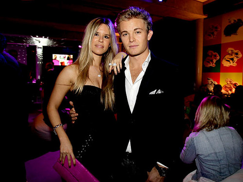 important people,Nico Rosberg with Vivian Sibold