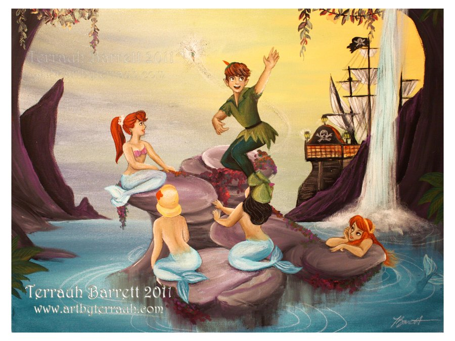 Peter pan and ariel fan art