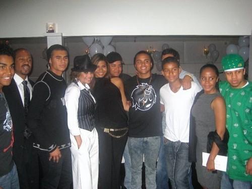 latoya jackson's birthday with her nephews and nieces tj jackson, jermaine jackson jr etc