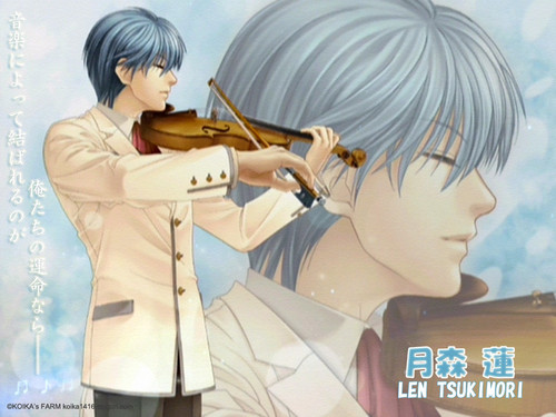 Anime wallpaper possibly with a violist entitled len tsukimori