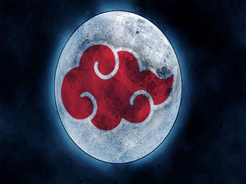 moon with আকাটসুকি মেঘ