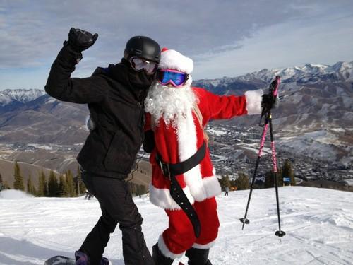 nina christmas skiing