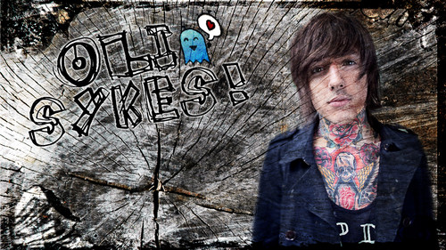 Bring Me The Horizon wallpaper probably containing a sign entitled oli sykes!