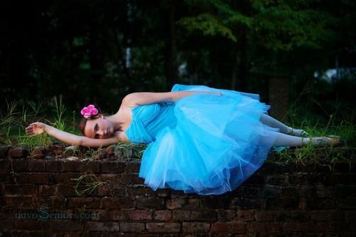 pretty blue tutu