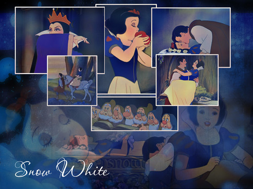 Snow White wallpaper containing Anime titled snoww white collage