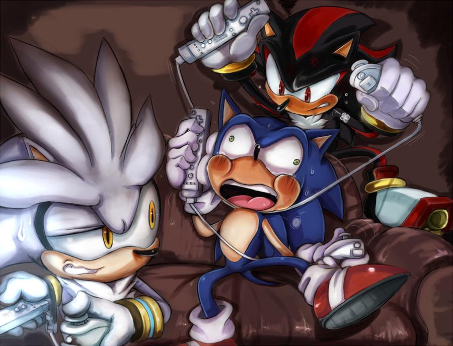 Evil Sonic vs Silver