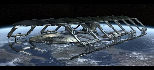 «Drydock U.S.S. ENTERPRISE - 1701 - E» [ ««The পরবর্তি Generation» ]