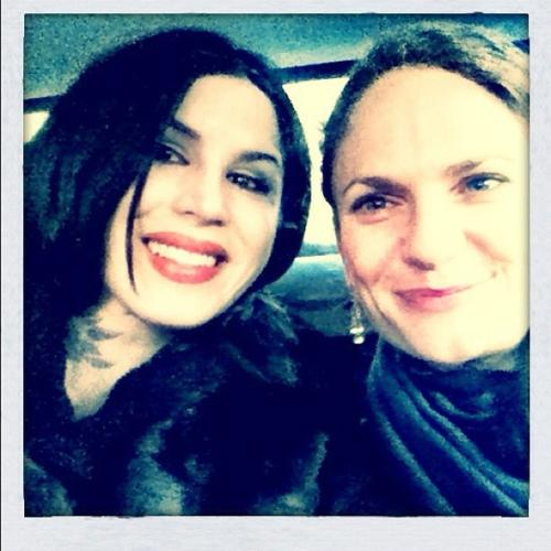 :) @SandraBark and I are bringing sunshine smiles to Helsinki! [December 29th, 2011]
