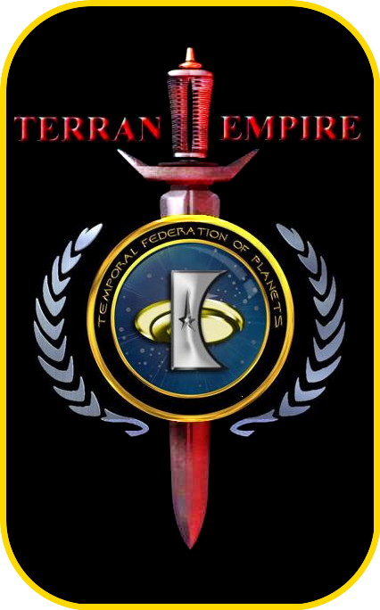 «The logo of Temporal Federation Planets» [ «Under the auspices of the Empire Earth TERRA» ]