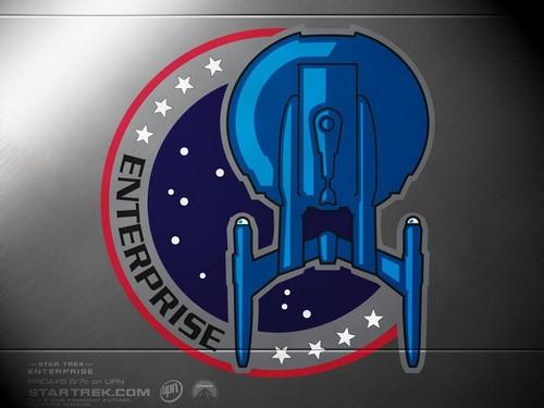 Du hành giữa các vì sao hình nền entitled «The logo of the spaceship ENTERPRISE - NX - 01»