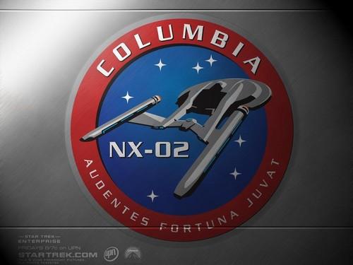 «The logo of the spaceship U.S.S. COLUMBIA - NX - 01»