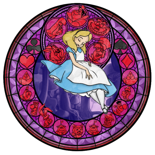 Alice`s stained glass window