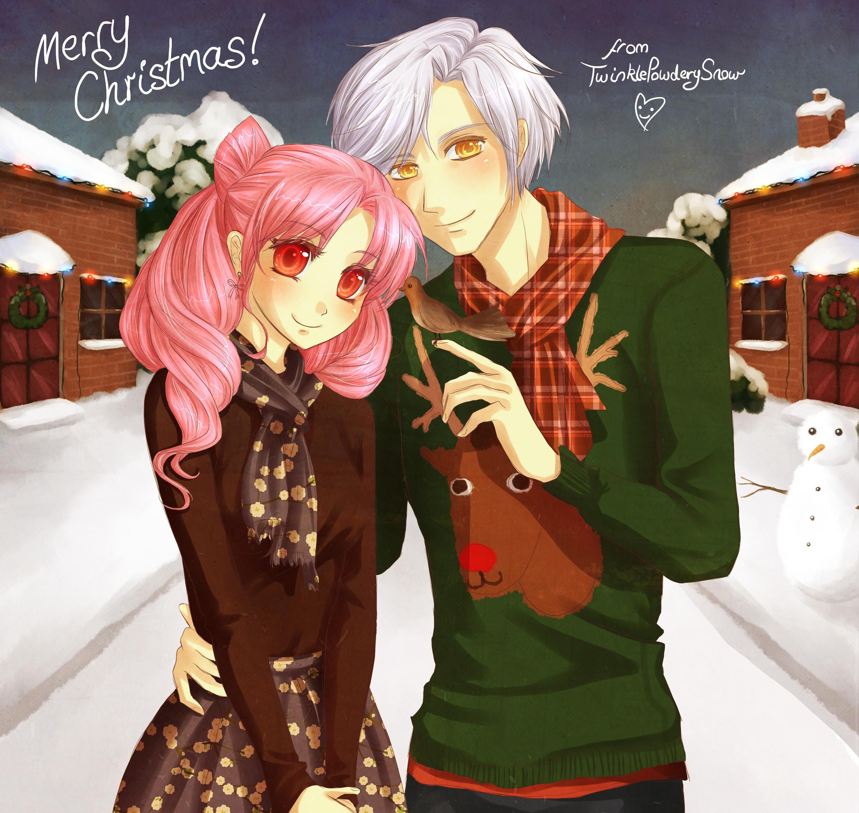 Anime Weihnachten Bilder.Msyugioh123 Bilder Anime Girl Weihnachten Hd Hintergrund And
