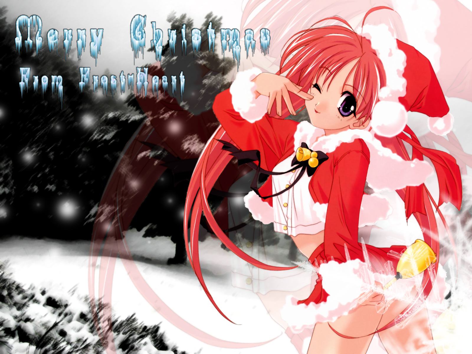 Msyugioh123 Images Anime Girl Christmas Hd Wallpaper And Background