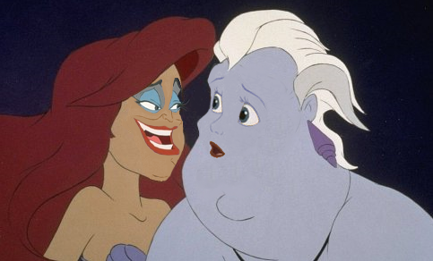 Ariel and ursula face swap