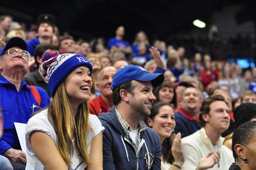 Olivia Wilde images At the Howard Bison vs the Kansas Jayhawks Game at Allen Fieldhouse [December 29, 2011] HD wallpaper and background photos