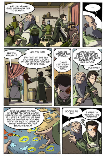 Avatar: The Last Airbender پیپر وال containing عملی حکمت called Avatar Comic(Zuko and Iroh)