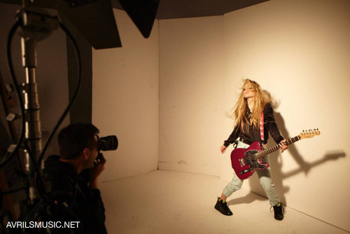Avril Lavigne wallpaper probably with a hip boot and a concert called Avril X Lotto 2012 Photoshoot