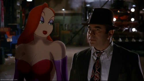 Jessica Rabbit kertas dinding probably containing a business suit called Babe