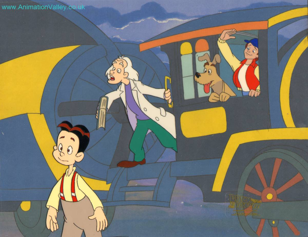 Back To The Future The Animated Series Production Cel