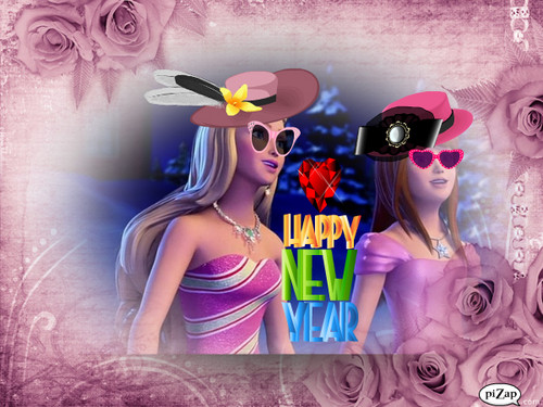Barbie and Skippy says Happy New Year !!