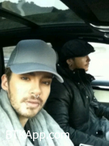 Bill and tom in their car