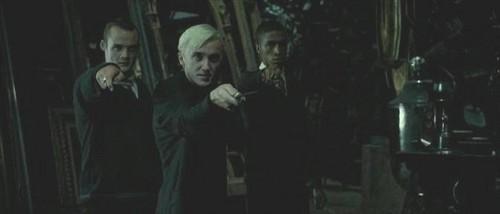 Blaise Zabini with Draco Malfoy and Gregory Goyle
