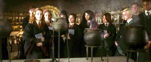 Blaise Zabini with Hogwart Students
