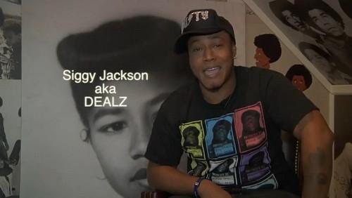 Blanket Jackson's cousin Siggy Jackson aka Dealz at Grandma Katherine's house