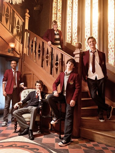 The House of Anubis wallpaper with a business suit and a drawing room called Boys of HOA