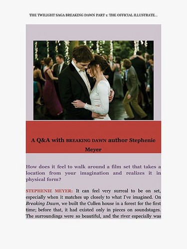 Breaking Dawn: Part 1 Movie Companion Guide (Complete Scans)
