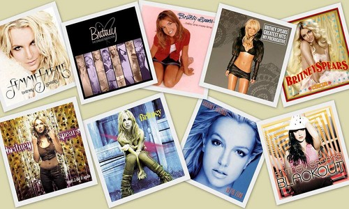 Britney Spears Albums Collage