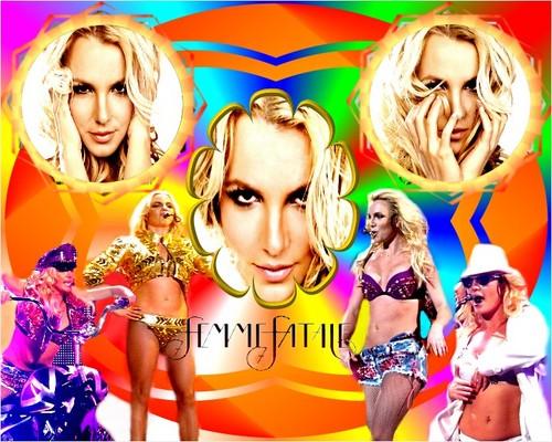 Britney Spears - Femme Fatale Poster