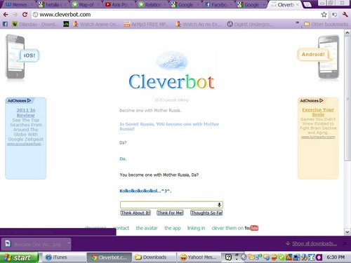 CLEVERBOT IS RUSSIA!!!