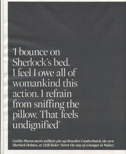 Caitlin Morans article on Sherlock from The Times - sherlock-on-bbc-one Photo