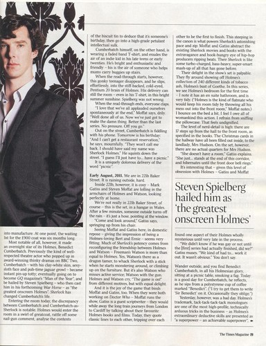 Caitlin Moran's Artikel on Sherlock from The Times