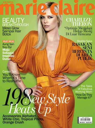 Charlize Theron for Marie Claire Indonesia January 2012