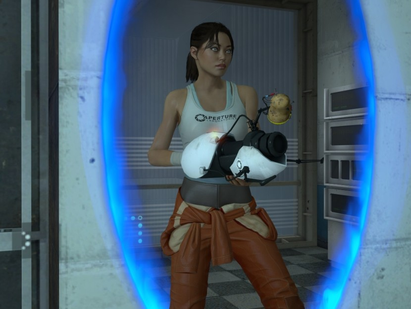 Chell images Chell Between a portal HD wallpaper and ...