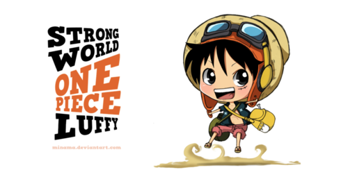 One Piece fond d'écran entitled chibi Luffy