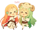 Чиби Orihime and Чиби Neliel